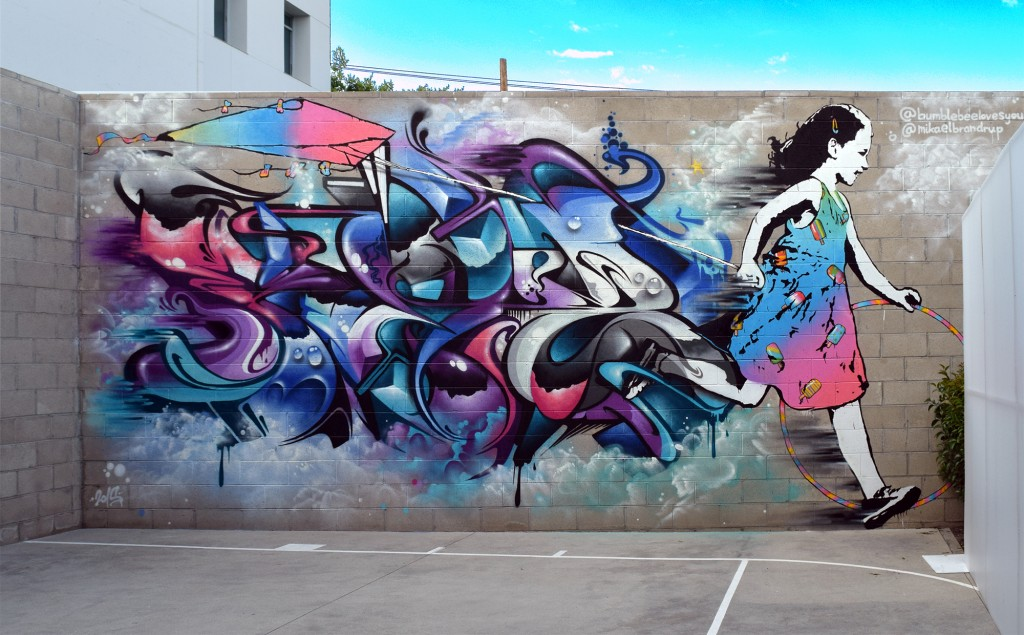 bumblebeelovesyou, mural, street art, google, venice family clinic