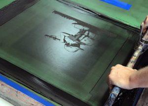 Hand pulled silkscreen